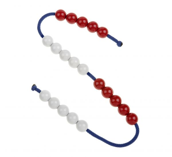 pack of 10 Bead Strings. Each string has 20 beads (5 red, 5 white, 5 ...