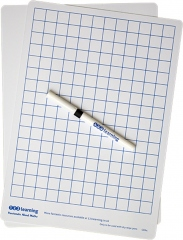 A4 Grid Whiteboard (Pack of 10)