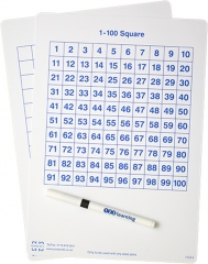 A5 100-square whiteboard